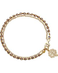 Astley Clarke | Metallic Four Leaf Clover Smoky-quartz Friendship Bracelet | Lyst