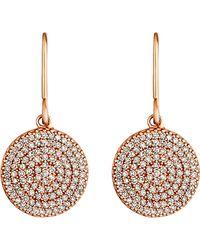 Astley Clarke - Pink Icon 14ct Rose Gold Diamond Drop Earrings - Lyst