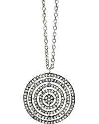 Astley Clarke | 14-carat White-gold And Diamond Concentric Circle Pendant | Lyst
