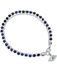 Astley Clarke | Metallic Evil Eye Sterling Silver Friendship Bracelet | Lyst