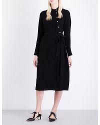 OSMAN   Black Melinda Asymmetric Crepe Dress   Lyst