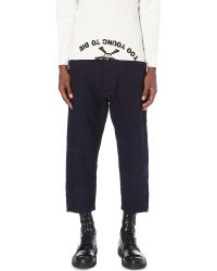 Vivienne Westwood Anglomania Blue Worker Slim-fit Cropped Jeans for men