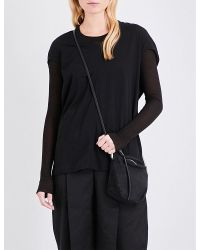 DRKSHDW by Rick Owens | Black V-neck Cotton-jersey Top | Lyst