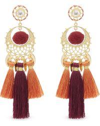 Rebecca Minkoff - Red Ladies Tassel Luxurious Chandelier Earrings - Lyst