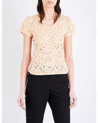 Maje | Multicolor Trompette Devoré Cotton-blend T-shirt | Lyst