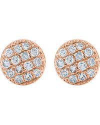 The Alkemistry | Metallic Lauren Joy Mini 14ct Rose-gold And Diamond Earrings | Lyst