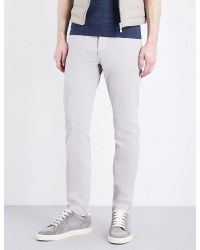 Brunello Cucinelli | Gray Slim-fit Cotton Trousers for Men | Lyst