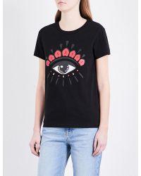 KENZO Black Eye-motif Cotton-jersey T-shirt