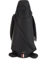 Thom Browne - Black Pebbled Leather Penguin Bag - Lyst