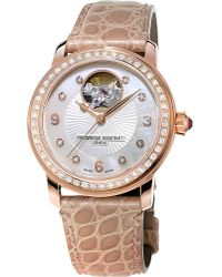 Frederique Constant Metallic Fc-310hbad2pd4 Classics Heart Beat Rose Gold-plated Watch