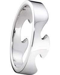 Georg Jensen - Metallic Fusion End 18ct White-gold Ring - Lyst