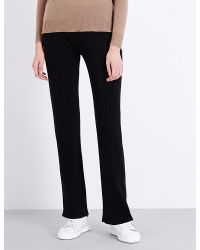 Theory | Black Goshun High-rise Stretch-cashmere Trousers | Lyst