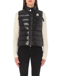Moncler Black Quilted Woven Gilet