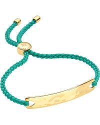Monica Vinader - Metallic Havana 18 Carat Gold Plated Vermeil Friendship Bracelet - Lyst