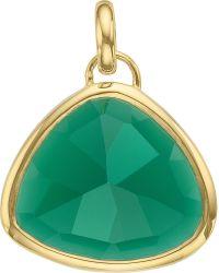 Monica Vinader | Green Siren 18ct Gold-plated Onyx Pendant | Lyst