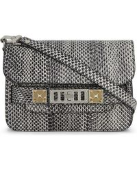 Proenza Schouler | Black Ps11 Classic Mini Snakeskin Cross-body Bag | Lyst