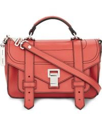 Proenza Schouler | Pink Ps1 Tiny Leather Satchel | Lyst