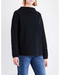 Dries Van Noten Black Hamar Oversized Cotton-jersey Top