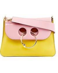 J.W.Anderson   Yellow Pierce Medium Leather Shoulder Bag   Lyst