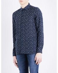 The Kooples Blue Hippie Flowers Button Up for men