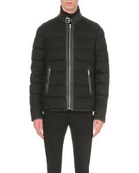 The Kooples - Black Quilted Wool-blend Jacket for Men - Lyst