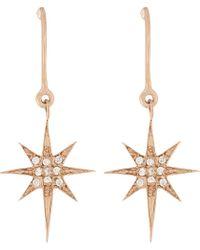 Aamaya By Priyanka | Metallic Shooting Star 18ct Rose Gold-plated And White Topaz Drop Earrings | Lyst