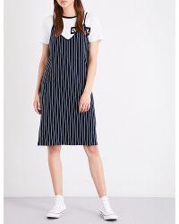 Izzue - White Striped Cotton-jersey Slip Dress - Lyst