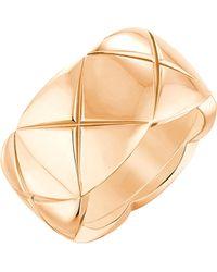 Chanel Natural Coco Crush 18k Beige Gold Ring. Medium Version