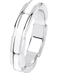 Chanel Ultra 18k White Gold And White Ceramic Ring
