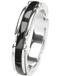 Chanel Ultra 18k White Gold And Black Ceramic Ring