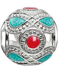 Thomas Sabo | Metallic Karma Beads Sterling Silver Bead | Lyst