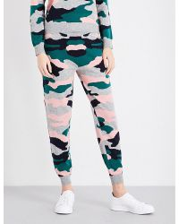 Chinti & Parker Green Camouflage Wool And Cashmere-blend Trousers