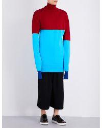 J.W.Anderson - Blue Turtleneck Striped Knitted Jumper - Lyst