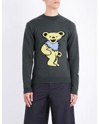J.W. Anderson   Gray Grateful Bear Wool Jumper for Men   Lyst