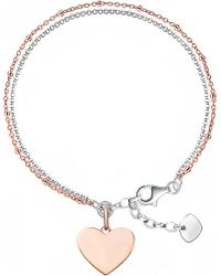 Thomas Sabo | Metallic 18ct Rose Gold And Sterling Silver Love Bridge Bracelet | Lyst