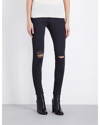 FRAME Blue Le High Skinny High-rise Jeans