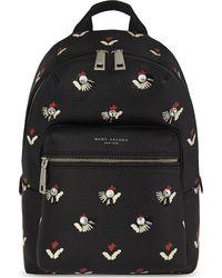 Marc Jacobs Black Tulip Leather Backpack for men