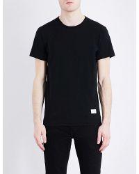 Rag & Bone Black Standard Issue Cotton-jersey T-shirt for men