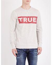 True Religion Gray True Cotton Sweatshirt for men