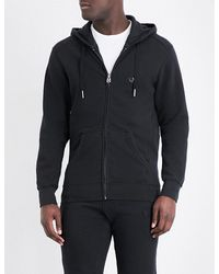 True Religion   Black Horseshoe Cotton-jersey Hoody for Men   Lyst