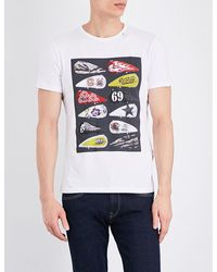 Replay | White Motorcycle-graphic Cotton-jersey T-shirt for Men | Lyst