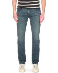 PAIGE | Blue Lennox Slim-fit Straight Jeans for Men | Lyst