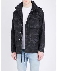 Sandro - Gray E17 Camouflage Pure-cotton Jacket for Men - Lyst