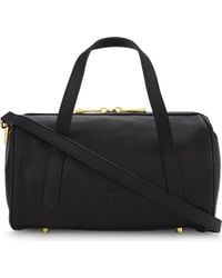 Mo&co. Black Leather Bowling Bag