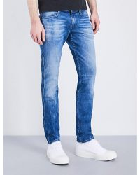 Replay Blue Anbass Slim-fit Skinny Jeans for men