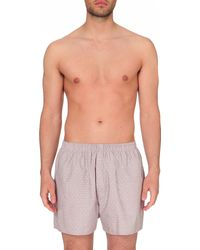 Sunspel - Multicolor Micro-patterned Cotton Boxers for Men - Lyst