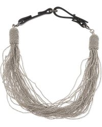 Brunello Cucinelli | Metallic Multi-strand Bead Necklace | Lyst