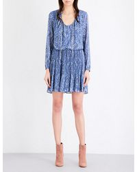 MICHAEL Michael Kors   Blue Devonshire Chiffon Dress   Lyst