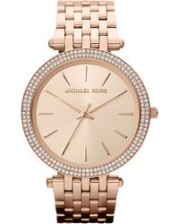 Michael Kors | Pink Mk3192 Darci Rose Gold-toned Stainless Steel Watch | Lyst