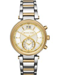 Michael Kors | Metallic Mk6225 Sawyer Stainless Steel And Gold-toned Watch | Lyst